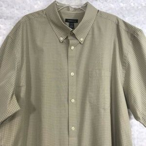 Van Heusen Mens Short Sleeve Button Down Shirt XL